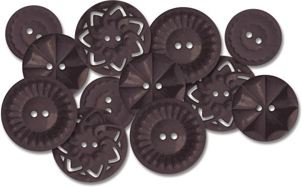 Black vintage buttons